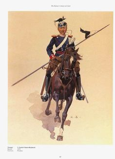 German; 1st Guard Uhlan Regiment, trooper. raised 1819. Home Depot Potsdam. Guard Corps