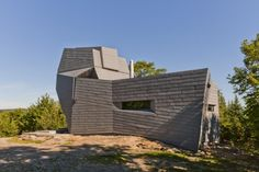 Gemma Observatory, Southern New Hampshire (USA) by Anmahian Winton Architects Entreprise : Crocker Architectural Sheet Metal Co. Inc. Copyright : Gilbertson Photography #Architecture #Observatory #Zinc #VMZINC #USA #Roofing #QuartzZinc #FlatLock