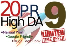 Using our special Gooogle-friendly SEO technique, we will MANUALLY create 20 High Trusted Backlinks in Using Some of the MOST TRUSTED  Websites in the World There will be a mix of no & do-follow, anchored & non-anchored links. #SEO #Digitalmarketing #Website #Skyrocket  #Fiverrgig #Backlinks  #HighDA