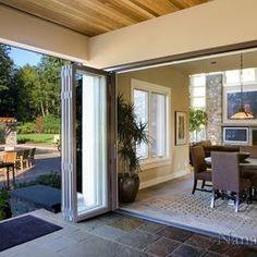 Bi Fold Door to covered patio & Slimline Aluminium frame Bifolds | SunSeeker Doors Ltd | bi ...