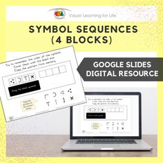 This digitally interactive resource is designed for use with Google Slides. This resource contains 20 slides in total.The student must remember the symbols in sequence, so that they can drag the symbols to the empty blocks from memory.
