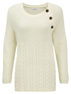 Damart ecru cable sweater, product code T338. www.damart.co.uk