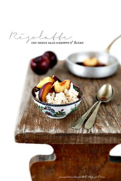 PANEDOLCEALCIOCCOLATO: rice pudding with plums in syrup 'Maple