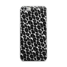 Black Leopard Abstract Pattern iPhone case