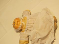 cabbage patch doll vintage bald Xavier Roberts signed 1984 blue eyes baby