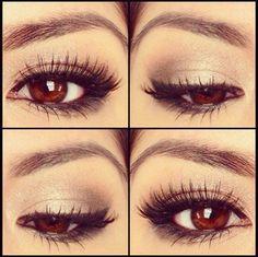 Natural smokey eye. Minimal makeup.