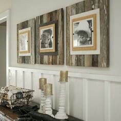 This is so incredibly adorable!  Would love this above my fireplace with my kids' school pictures!!