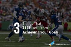 Whenever we set goals and pursue them, there are mainly 3 things that usually stop you from achieving your goals. By knowing what these 3 things are, it will potentially help increase your chances of achieving your goals.