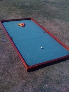 Captivating Yard Billiards / Pool Table Made With Soccer Balls, Sunken Buckets, And  Turf | Exterior | Pinterest | Billiard Pool Table, Billiards Pool And Pool  Table