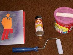 chalk stencil tutorial