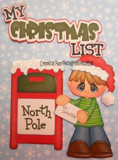 My Christmas List, patterns by Little Scraps of Heaven Designs and Treasure Box Designs Scrapbook Paper Projects, Christmas Scrapbook Layouts, Christmas Paper Crafts, Christmas Art, Baby Scrapbook, Scrapbook Cards, Paper Piecing Patterns, Christmas Settings, Treasure Boxes