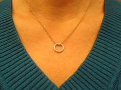 Delicate Eternity Sterling Silver and Gold Filled by FayWestDesigns, $28.00