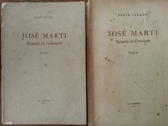 Jose marti.recuento del centenario.2 vols.felix lizaso, primera edicion.1953.signed.: felix lizaso: Amazon.com: Books