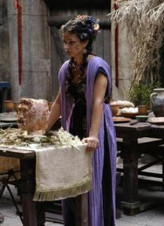 Indira Varma as Niobe of the Voreni from HBO's Rome Indira Varma, Ancient Rome, Ancient Greece, Ancient Roman Food, Ancient Aliens, Period Costumes, Movie Costumes, Rome Costume, Rome Hbo