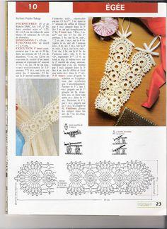 crochet curtain tiebacks Filet Crochet, Crochet Motif, Crochet Doilies, Crochet Stitches Patterns, Stitch Patterns, Curtain Holder, Crochet Curtains, Crochet Decoration, Dmc