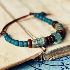 Driftwood handmade ceramic bracelet by Kylie Parry studios...