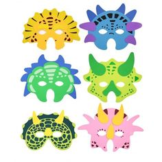 Fab for a dinosaur party - dinosaur mask. Party Bag Toys, Party Bags, Dinosaur Birthday Party, Birthday Parties, Dinosaur Mask, Halloween Face Mask, Animal Masks, Mask Party, Party Bag Fillers