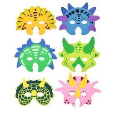 Fab for a dinosaur party - dinosaur mask. Party Bag Toys, Party Bags, Party Props, Party Themes, Dinosaur Birthday Party, Birthday Parties, Dinosaur Mask, Halloween Face Mask, Animal Masks