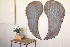 Angel Wings Wall Decor | Metal Angel Wings