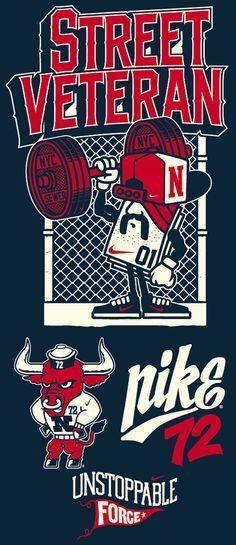 MISC NIKE DESIGNS by 123KLAN , via Behance