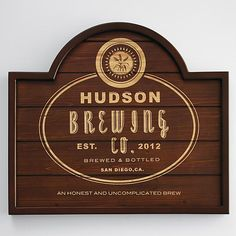 Personalized home pub hops wooden sign