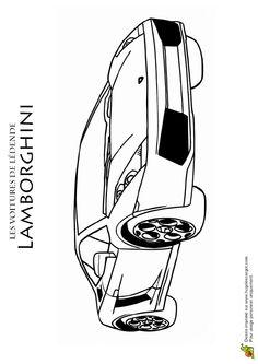 Coloriage de l 39 arri re d 39 une lamborghini coloriages de - Lamborghini a colorier ...