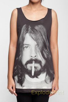 Dave Grohl Tank Tops Foo Fighters Hard Rock Band T-Shirt Top Black Women Unisex TShirt Shirts Size S M L on Etsy, $15.99
