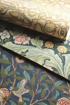 Engelska Tapetmagasinet - tapeter - acanthus - pink and rose - wallpaper - arts and craft - jugend