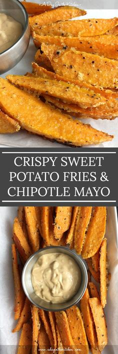 Crispy Sweet Potato Fries & Chipotle Mayo