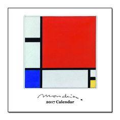 2017 Mondrian Square Wall Calendar