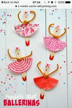 Ballerina popsicle craft