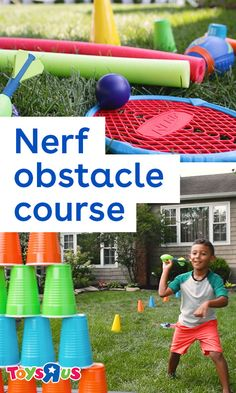Got some Nerf toys? How 'bout some creativity? Then you have what it takes to make your own DIY backyard Nerf obstacle course! Here's how to make it…