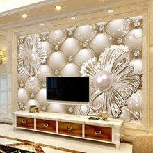 Papel de Parede personalizado Mural Moderno 3D Estéreo Borboleta Tulipa Flores Pintura de Parede Papéis de Parede de Moda Sala de estar Decoração de Casa Para 3 D Loja Online | aliexpress móvel