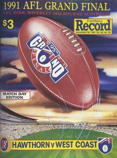 Hawthorn vs West Coast: Grand Final Football Record 1991