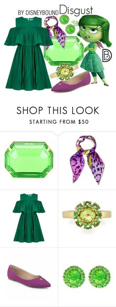 """""""Disgust"""" by leslieakay ❤ liked on Polyvore featuring Charlotte Olympia, Christian Dior, Jovonna, Ippolita, Journee Collection, Color My Life, disney, disneybound and disneycharacter"""