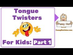 Funny Tongue Twisters For Kids Part 3. Easy Tongue Twisters For Kids - YouTube