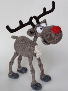 Amigurumi Crochet Pattern - Rudolf the Reindeer This is a crochet pattern and not the toy. Following this pattern Rudolf the Reindeer will be approximately 20 cm by 25 cm. The pattern is available in English. More photos available on Facebook: https://www.facebook.com/media/set/?set=a.685742328102953.1073741866.550384588305395&type=3 Or check out IlDikko website: http://ildikko-crochet.com After completion of your order the PDF file contain...
