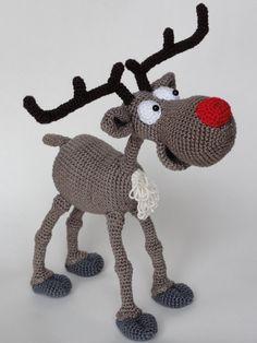 Amigurumi Crochet Pattern  Rudolf the Reindeer от IlDikko на Etsy