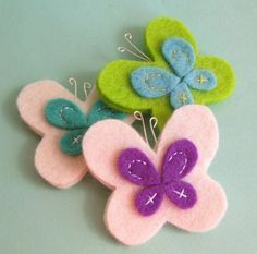 butterfly magnets, possibly hair bows??