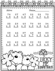 Printable Multiplication Worksheets 6th Grade