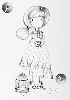 Gorjuss Santoro Stamps clipart and coloring pages Digital Stamps Free, Cartoon Painting, Atc Cards, Christmas Embroidery, Little Doll, Coloring Book Pages, Digi Stamps, Illustrations, Copics