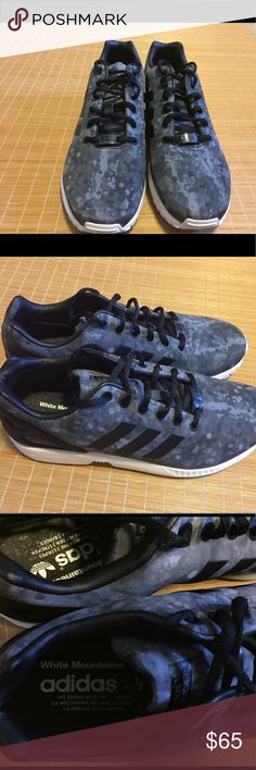 RARE ADIDAS X WHITE MOUNTAINEERING ZX FLUX RARE ADIDAS X WHITE MOUNTAINEERING ZX FLUX.  Adidas and White Mountaineering collaboration from 2014. The shoe has been worn sparingly.  It is in great condition.  If you have any questions feel free to message me.  Thanks in advance.  ALL SALES ARE FINAL. Adidas Shoes Sneakers