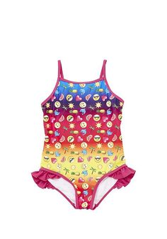 bab16a68ce Tesco direct: Emoji Print Swimsuit Rainbow Things, Emojis, Tesco Direct,  Birthday List