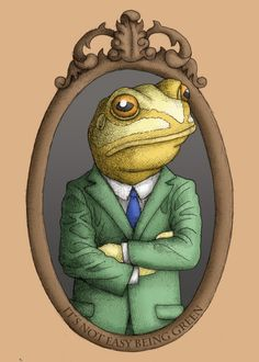 I used to date a lot of toads then I married my husband...he's a real prince!