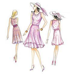 two-tiered hem dress