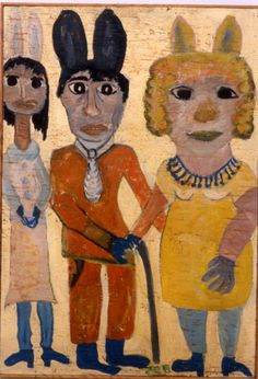 By Jon Serl, At the Party, 1965, oil on board. Photo courtesy of Cavin/Morris Gallery, New York.
