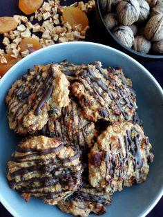 Fit ovsené marokánky - Barbora Gamanová Sweet Desserts, Sweet Recipes, Cake Recipes, Christmas Sweets, Christmas Candy, Christmas Cookies, Low Carb Recipes, Cooking Recipes, Healthy Recipes