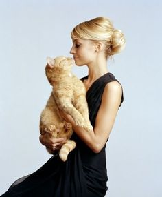Photos of Celebrities and Cats for International Cat Day - Celebrity Cat Photos