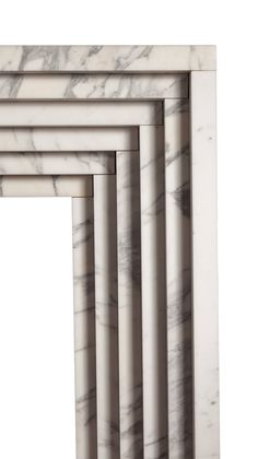 Reproduction Art Deco Marble Fireplace