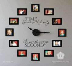 time spent with family http://hative.com/creative-photo-frame-display-ideas/